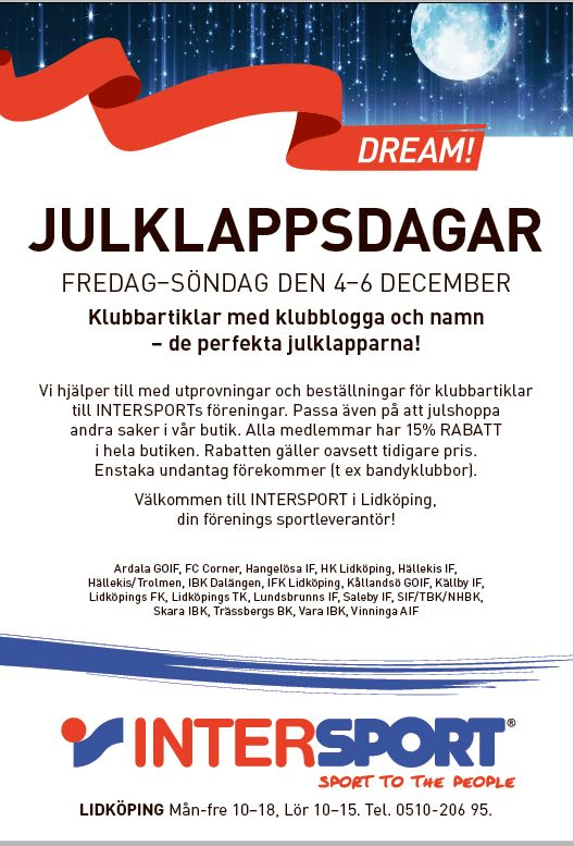 Julklappsdagar Intersport